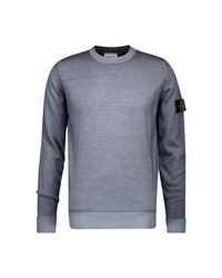 Stone Island Gray Round-neck Jumper In Wool for men
