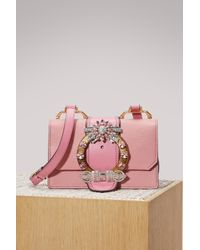 5a1207acaa295 Miu Miu Miu Lady Leather Bag in Pink - Lyst