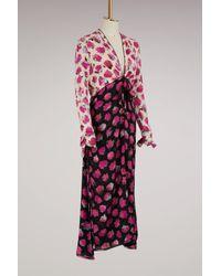 Proenza Schouler Multicolor Silk Printed Long Dress