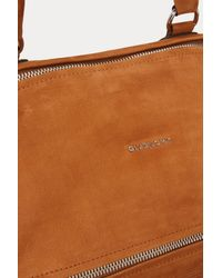 Givenchy Brown Pandora Nubuck Shoulder Bag