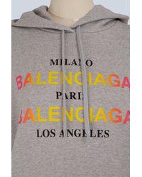 Balenciaga - Gray Milano Paris La Oversize Sweatshirt - Lyst