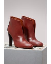 Michel Vivien - Brown Evy Leather And Suede Ankle Boots - Lyst