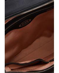 Tod's Black Piccola Alber Elbaz X Shopping Bag