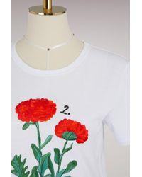 Alexander McQueen White Botanical Embroidered T-shirt