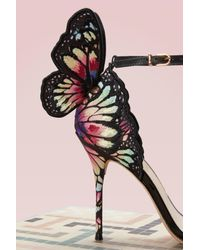 Sophia Webster Black Chiara Embroidery Sandal