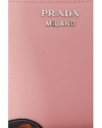 Prada - Pink Face Zip Around Wallet - Lyst