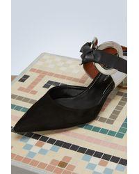 Mules ouverte Grommet Proenza Schouler en coloris Black