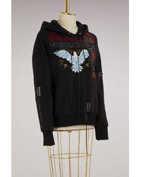 Alexander McQueen - Black Embroidered Hoodie - Lyst