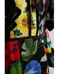Gucci | Blue Patch Florage Insects Dress | Lyst