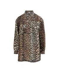Ganni Multicolor Leopard Print Shirt