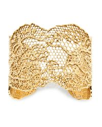 Aurelie Bidermann Red Lace Cuff