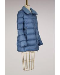 Moncler Blue Torcyn Down Jacket With Wool Lining