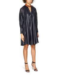 Sportmax Blue Pleated Dress