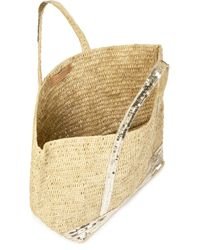Vanessa Bruno Natural Large Raffia Cabas Tote Bag