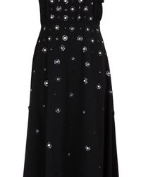 RED Valentino Black Floral Sequinned Maxi Dress