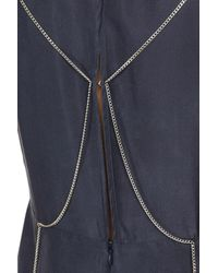 Sportmax Blue Langes Kleid
