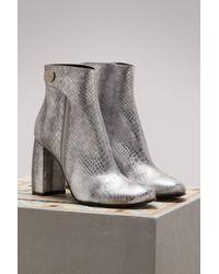 Stella McCartney Gray Alter Snake Ankle Boots