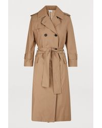Thom Browne Natural 3/4 Sleeves Trench Coat