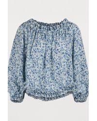 Haut en soie Stella McCartney en coloris Blue