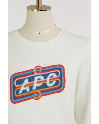 A.P.C. White Norman Sweatshirt