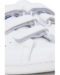 Adidas Originals White Stan Smith Scratch Sneakers