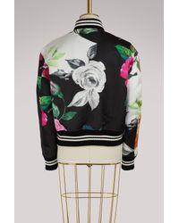 Off-White c/o Virgil Abloh Multicolor Floral Bomber Jacket
