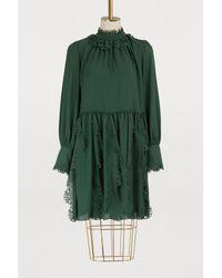 Robe en georgette See By Chloé en coloris Green
