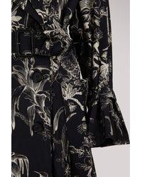 Alexander McQueen Black Bird Trench Coat