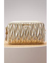 Miu Miu | Multicolor Matelasse Leather Little Crossbody Bag | Lyst
