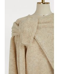 Céline Natural Two-in-one Sweater In Soft Shetland Wool
