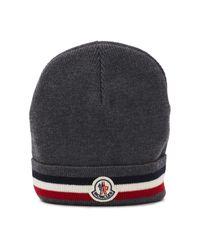 Moncler Gray Wool Beanie for men
