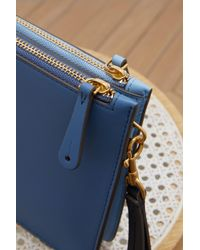 Anya Hindmarch Blue Double Zip Circus Pouch