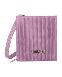 Jacquemus Pink Logo-lettering Striped Shoulder Bag for men