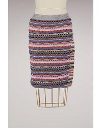 Carven Multicolor Cotton Short Skirt