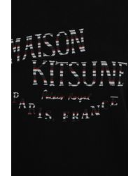Maison Kitsuné - Black Cotton Palais Royal Sweater - Lyst