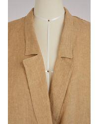Forte Forte Natural Oversized Linen Coat