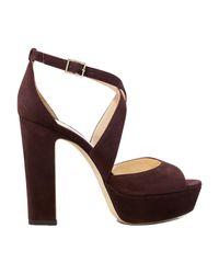 Sandales April 120 Jimmy Choo en coloris Brown
