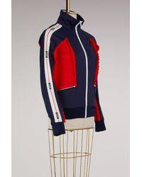 MSGM - Blue Jacket With Logo - Lyst