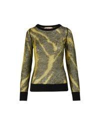 N°21 Yellow Pullover aus Mischmohair
