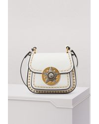 7229de505d5a Miu Miu Dahlia Star Leather Crossbody Bag in Pink - Lyst