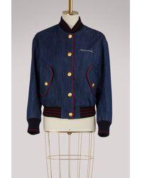 Miu Miu Blue Denim Bomber Jacket