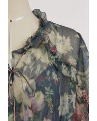 Zimmermann - Gray Iris Silk Maxi Dress - Lyst
