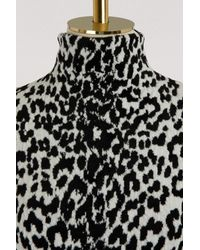 Givenchy Black Leopard Printed Turtle-neck