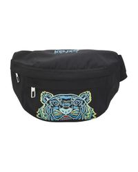KENZO Black Tiger Belt Bag for men