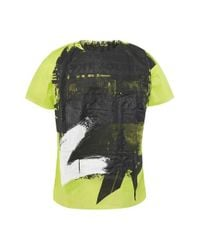 Raf Simons Green Hand Painted Hospital Top for men