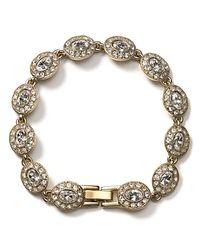 "Carolee - Metallic Champagne Toast Oval Stone Bracelet, 7"" - Lyst"