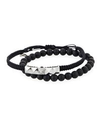 Tai - Black Set Of Two Hand-braided Bracelets - Lyst
