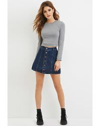 Forever 21 - Gray Cotton-blend Sweater - Lyst