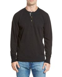 Jeremiah | Black 'finn' Long Sleeve Slub Henley for Men | Lyst