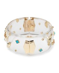 Alexis Bittar - Blue Phoenix Deco Confetti Dotted Hinged Bracelet - Lyst